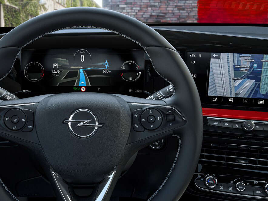 Opel, Mokka, цифрова панель приладів